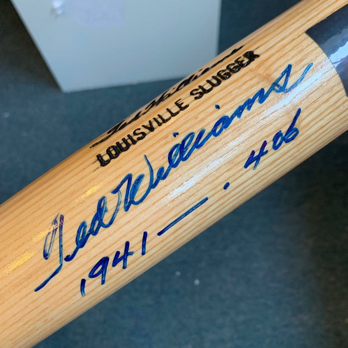 Beautiful Ted Williams 1941 .406 Ave. Signed Game Model Bat JSA COA MINT