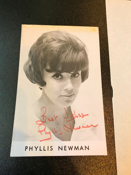 Vintage 1960's Phyllis Newman  Signed Autographed Original Photo With Letter