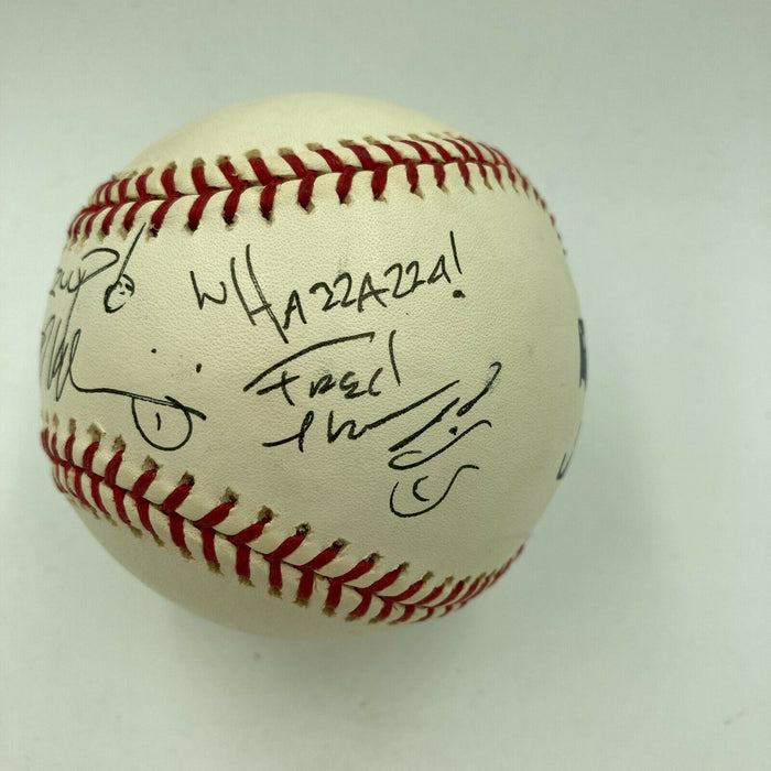 "Budweiser ""Wazaaaa"" Commercial Actors Signed Baseball Signed At Super Bowl"