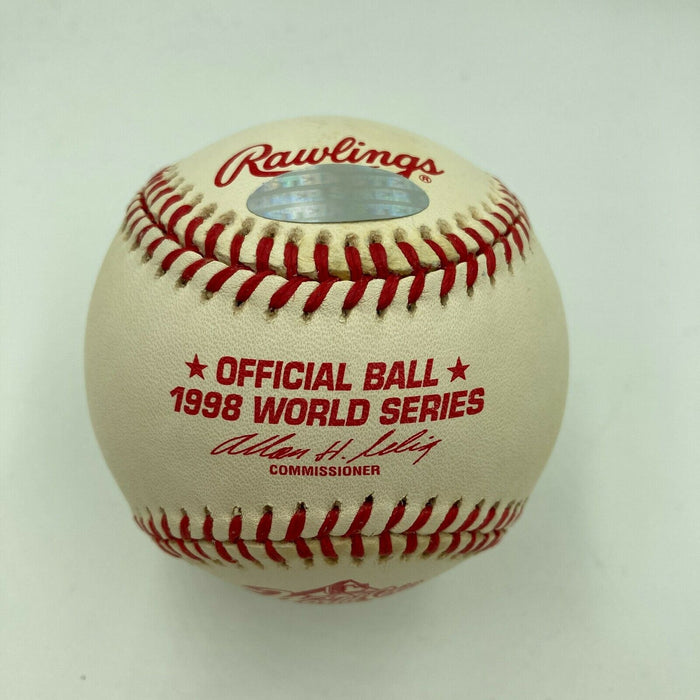 Derek Jeter Signed Official Autographed 1998 World Series Baseball Steiner COA