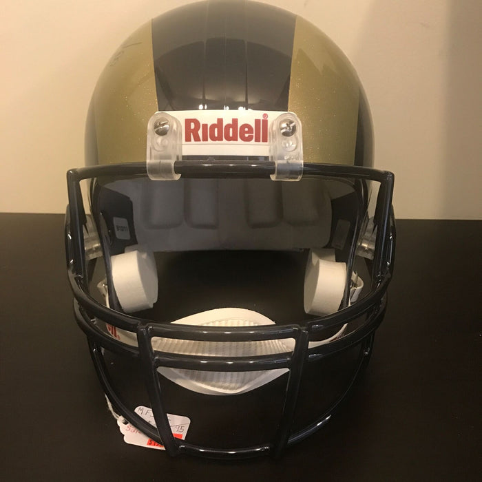 Marshall Faulk Signed St. Louis Rams Full Size Helmet PSA DNA COA