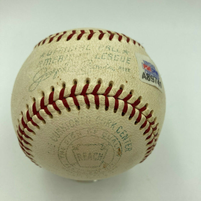 1960's Ted Williams Playing Days Signed American League Cronin Baseball PSA DNA