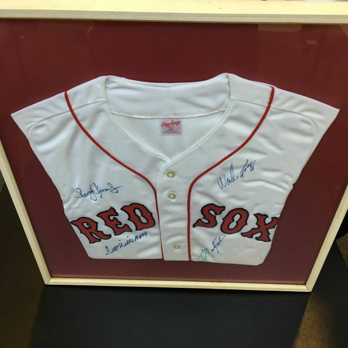 Ted Williams Carl Yastrzemski Roger Clemens Signed Boston Red Sox Jersey PSA DNA