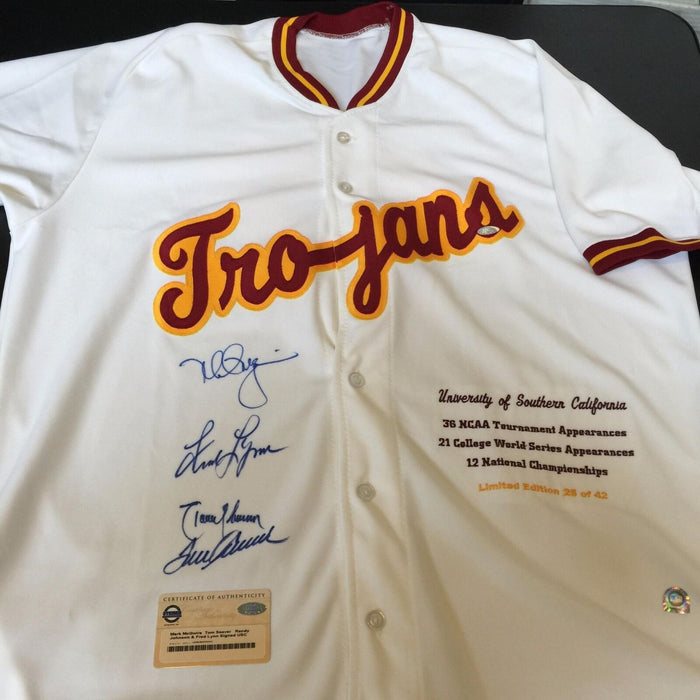 Mark McGwire, Randy Johnson, Tom Seaver Signed USC Trojans Jersey Steiner COA