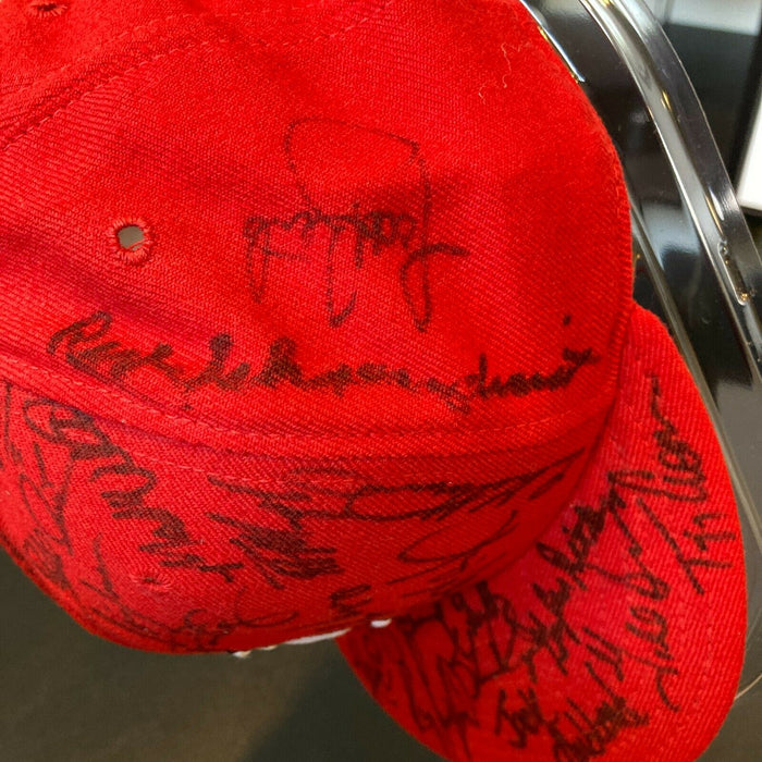 1993 St. Louis Cardinals Team Signed Game Model Hat Ozzie Smith 35+ Sigs JSA COA