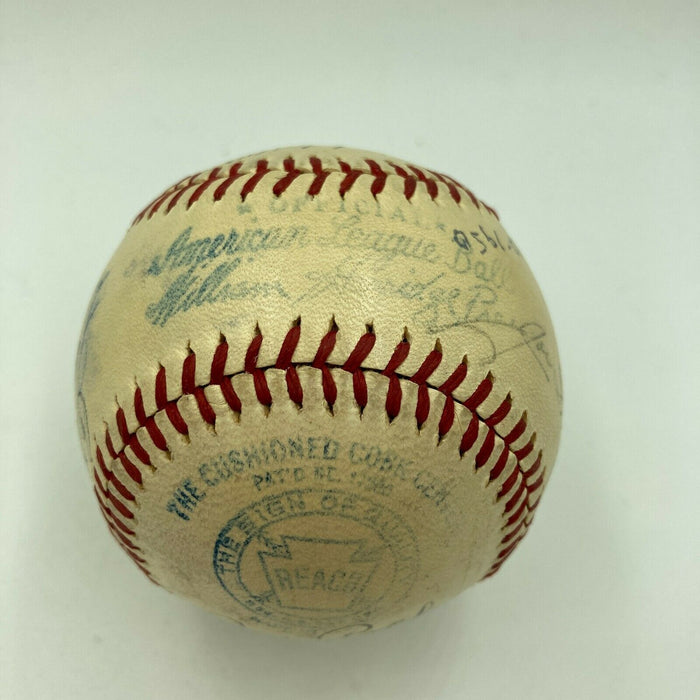 Joe Dimaggio & Ted Williams 1940's Yankees Red Sox Legends Signed Baseball BAS