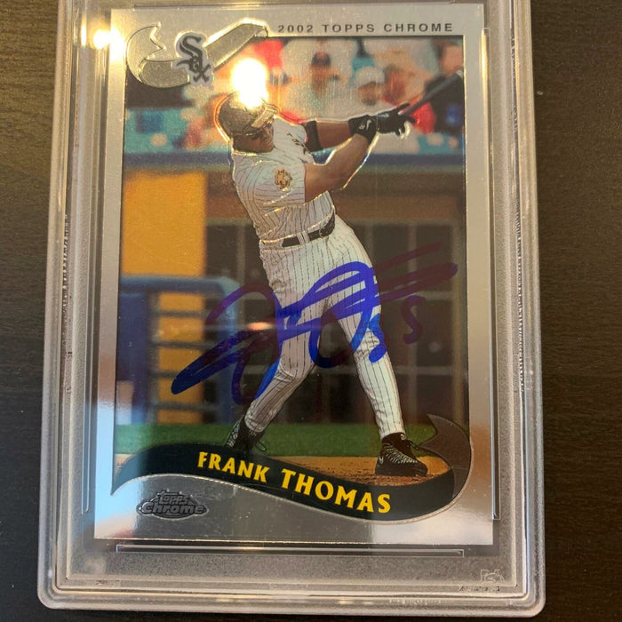 Frank Thomas Signed Autographed Baseball Card Chicago White Sox PSA DNA COA