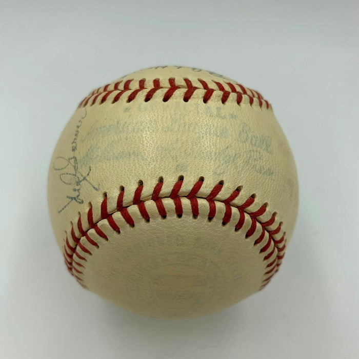 1951 All Star Game Team Signed Baseball Joe Dimaggio & Nellie Fox With JSA COA
