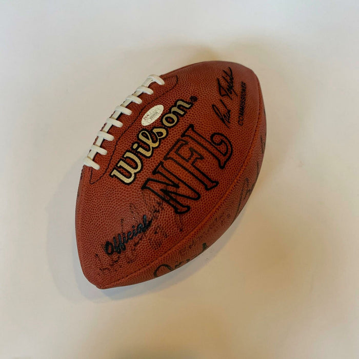 Vintage 1972 Miami Dolphins Super Bowl Champs Team Signed Football With JSA COA