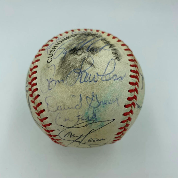 1987 St. Louis Cardinals NL Champs Team Signed Game Used Baseball 30 Sigs PSA