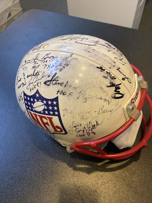Johnny Unitas Joe Namath Hall Of Fame Multi Signed Full Size NFL Helmet JSA COA