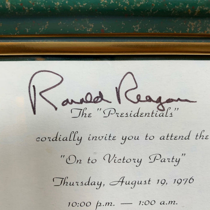 "President Ronald Reagan Signed 1976 ""On To Victory"" Invitation With JSA COA RARE"