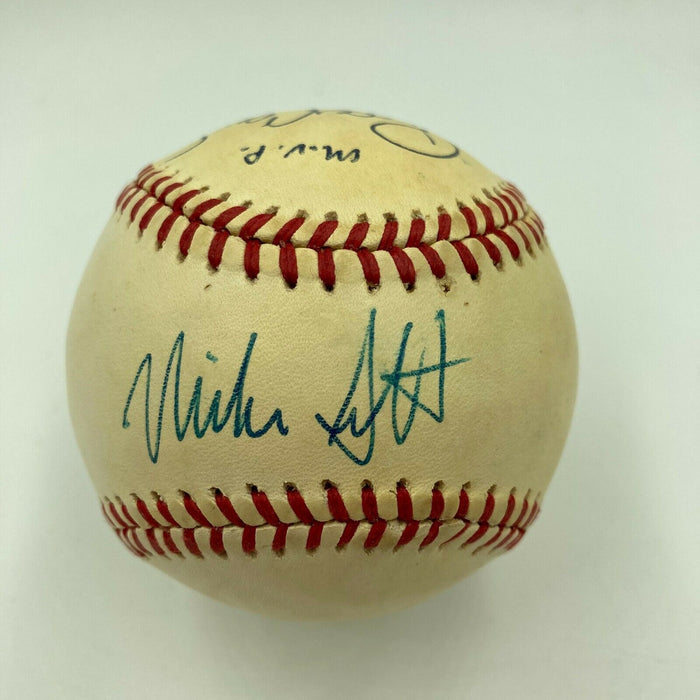 Roger Clemens Cy Young MVP & Mike Scott Signed 1986 World Series Baseball JSA
