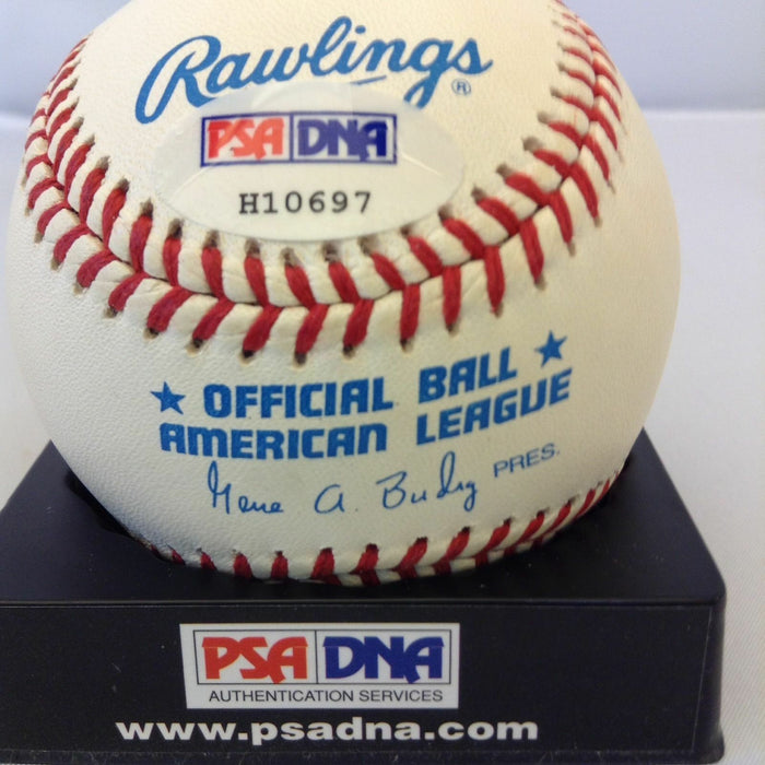 Andy Carey Signed Stat Baseball With Multiple Inscriptions NY Yankees PSA DNA