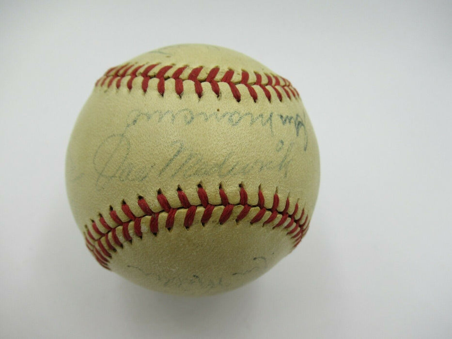 1944 New York Yankees Team Signed Autographed Baseball Mel Ott JSA COA