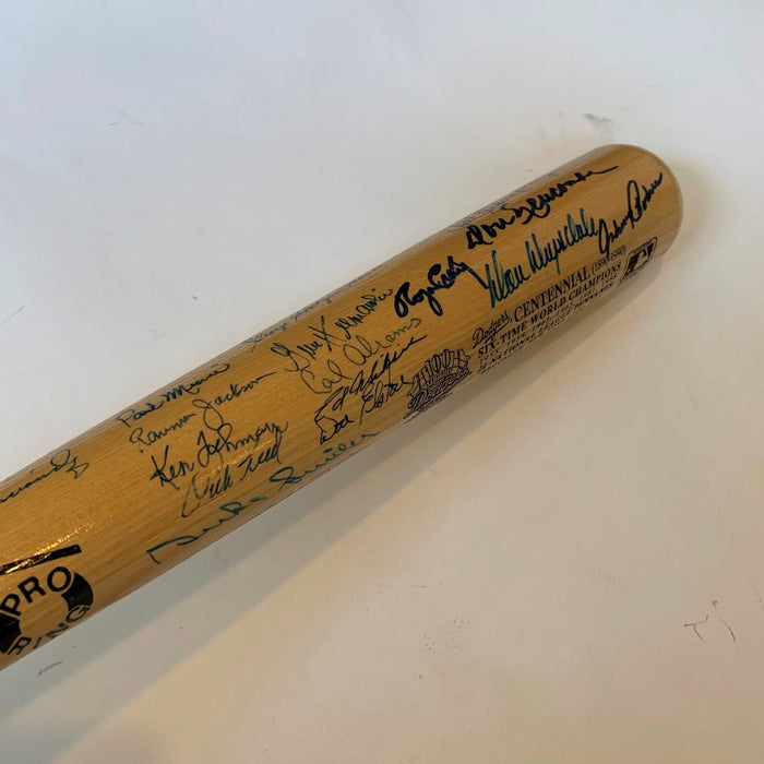 Incredible Brooklyn Dodgers Greats Signed Centennial Bat With 50+ Sigs JSA COA