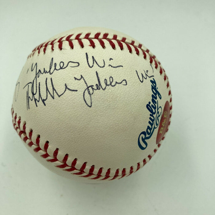 "John Sterling ""Thhhhe Yankees Win!"" Signed Inscribed MLB Baseball JSA COA"