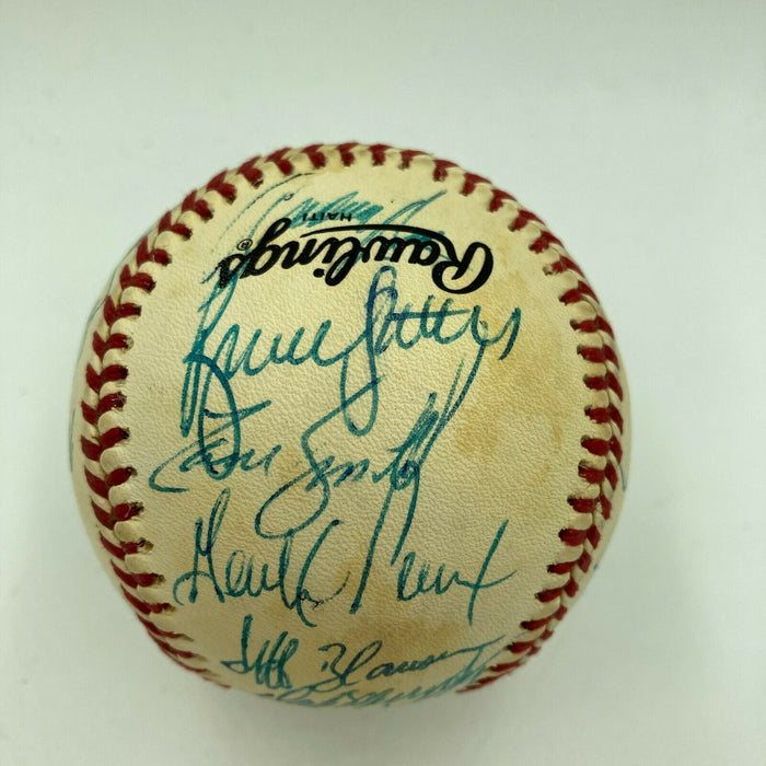 1988 Atlanta Braves Team Signed Autographed Official National League Baseball