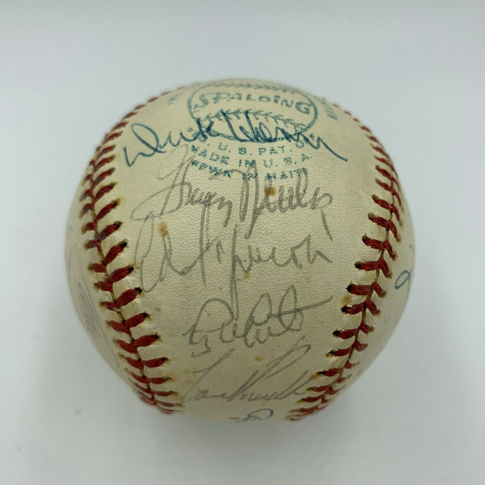 1976 New York Yankees AL Champs Team Signed Baseball Elston Howard With JSA COA