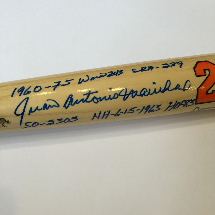 The Finest Juan Marichal Signed Heavily Inscribed Career Stats Bat With JSA COA