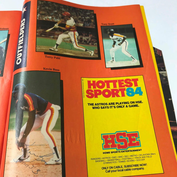 1984 Houston Astros Team Signed Program With Many Signatures