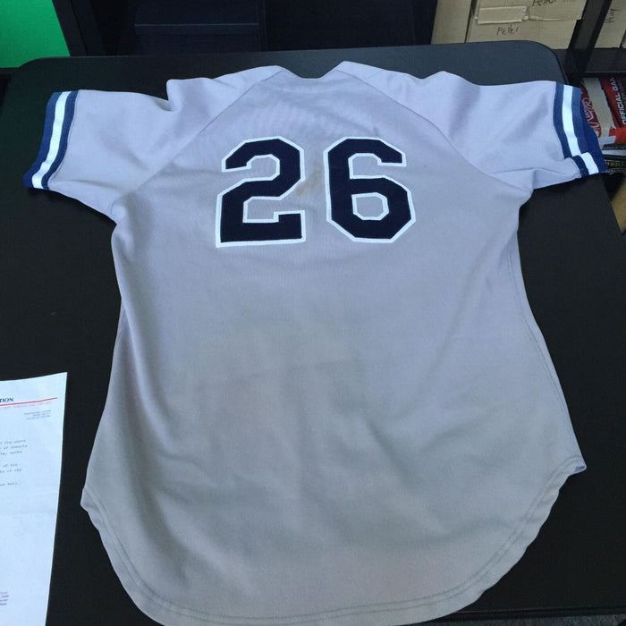 1999 Orlando El Duque Hernandez Oneonta Yankees Game Used Minor League Jersey