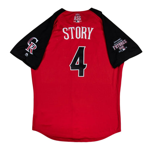 Trevor Story 2015 Rookie Game Used All Star Game  Team USA Jersey MLB Authentic