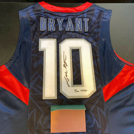 Kobe Bryant Signed 2008 Pro Cut Team USA Olympics Jersey With UDA Upper Deck COA