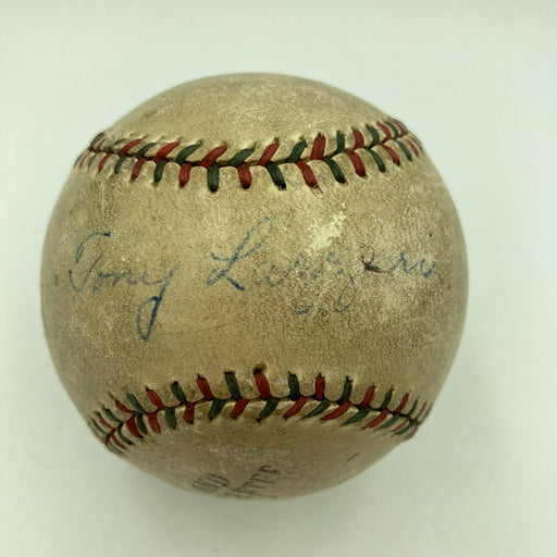 Tony Lazzeri Single Signed Autographed 1920's Baseball With PSA DNA COA