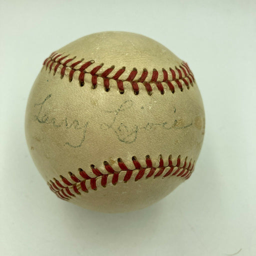 Napoleon Nap Lajoie Single Signed 1940's American League Baseball PSA DNA COA