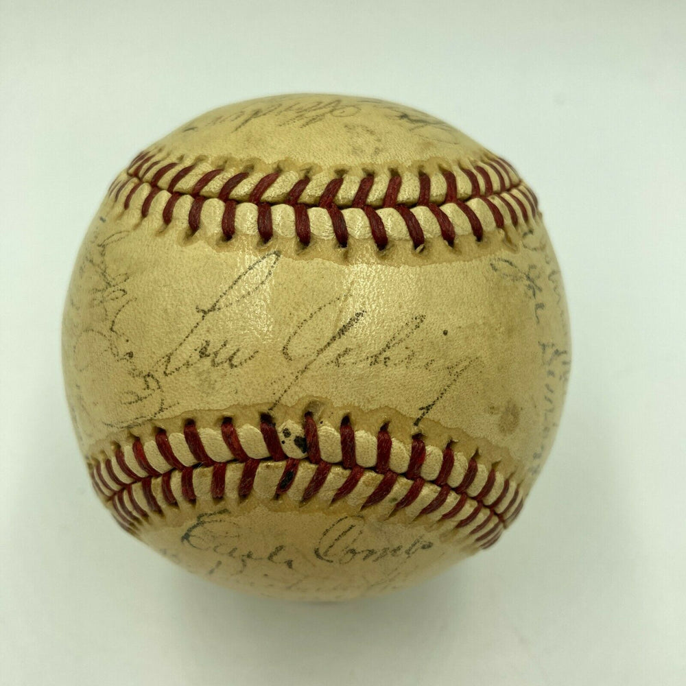 1939 New York Yankees World Series Champs Team Signed Baseball
