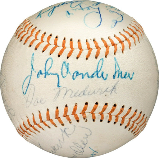 Joe Medwick Pie Traynor Lefty Grove HOF Signed Baseball PSA DNA & Beckett COA