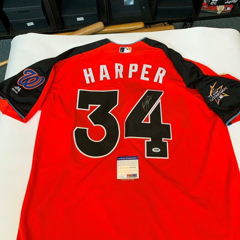 Bryce Harper Signed 2017 All Star Game Washington Nationals Jersey PSA DNA COA