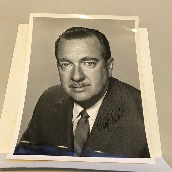 Vintage 1960's Walter Cronkite Signed Autographed 8x10 Photo + Letter JSA COA