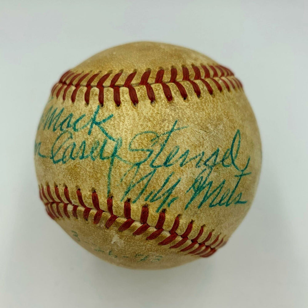 Nice Casey Stengel Single Signed Official American League Baseball With JSA COA