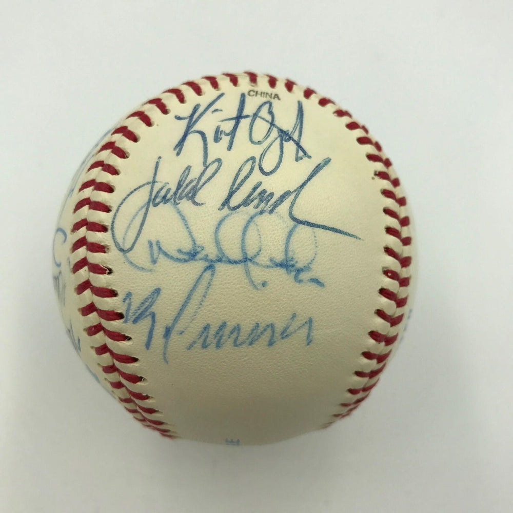 Derek Jeter Mariano Rivera Pre Rookie 1995 Minor League Team Signed Baseball PSA