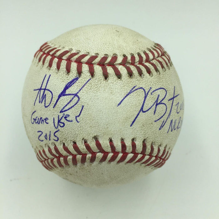 Kris Bryant 2015 ROY & Anthony Rizzo Signed Game Used Baseball MLB Authenticated