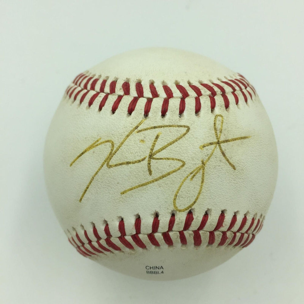 2013 Kris Bryant Pre Rookie Signed Game Used Minor League Baseball PSA DNA & JSA