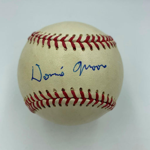 RARE Donnie Moore Single Signed Baseball Angels Dec. Age 35 - 1989 With JSA COA