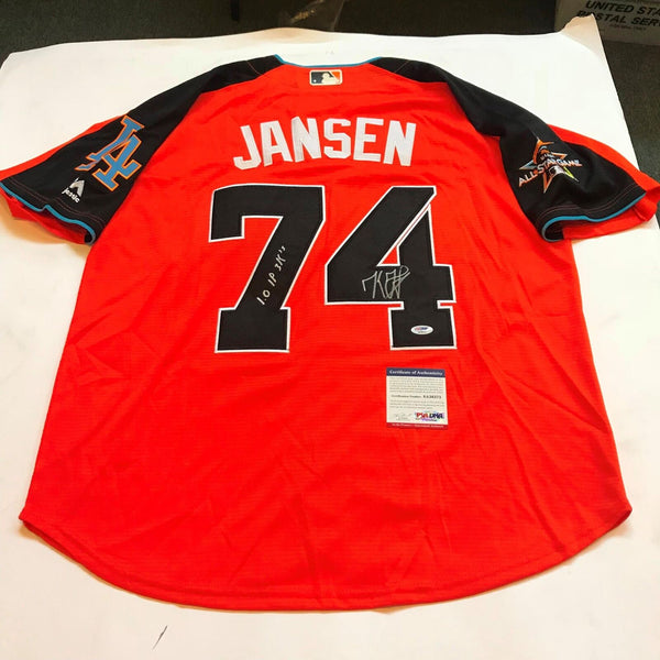 Kenley Jansen Signed Heavily Inscribed 2017 All Star Game Jersey Dodgers PSA DNA