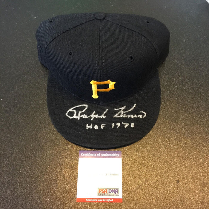 "Ralph Kiner ""HOF 1975"" Signed Game Model Pittsburgh Pirates Cap Hat PSA DNA COA"
