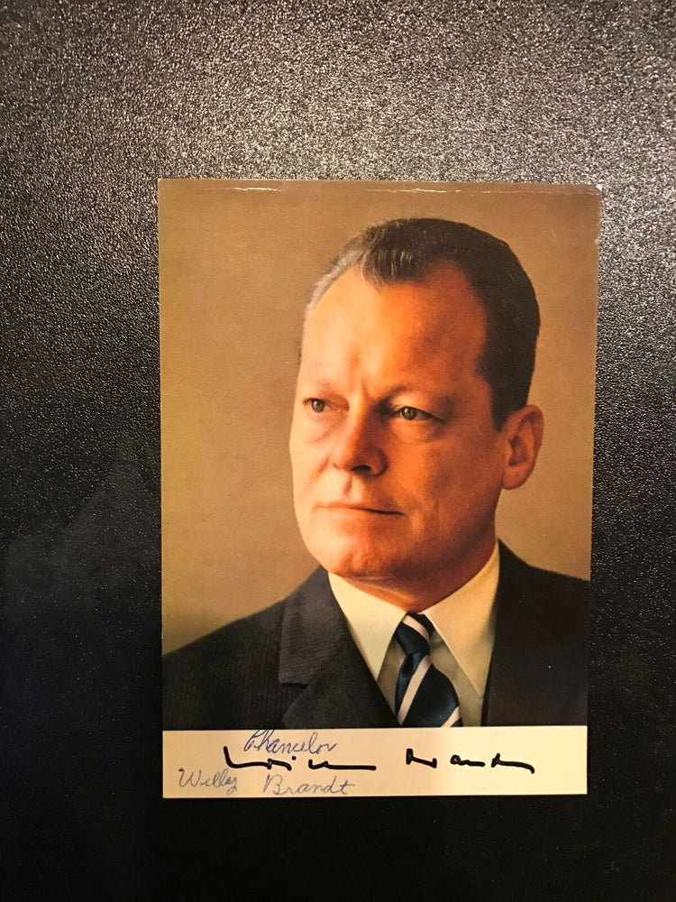 Vintage 1960's German Chancellor Willy Brandt Nobel Peace Prize