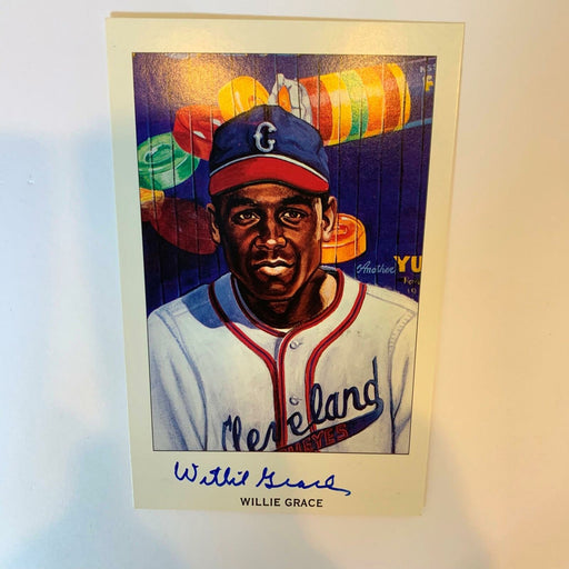 Willie Grace Signed Autographed Ron Lewis Negro League Limited Edition Postcard