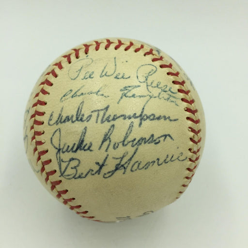 Beautiful 1955 Brooklyn Dodgers Team Signed Baseball Jackie Robinson JSA COA