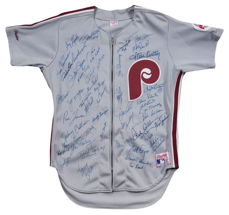 Incredible Philadelphia Phillies Legends Multi Signed Jersey 53 Sigs! Beckett