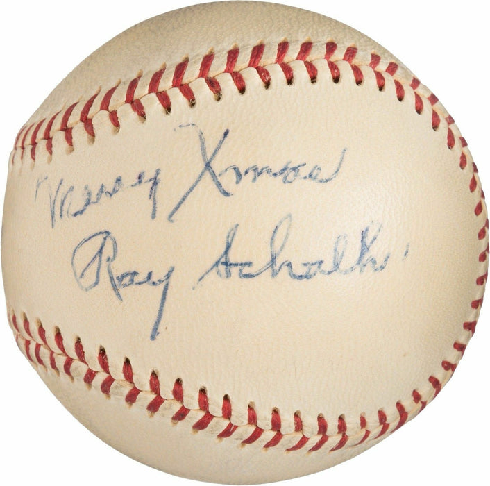 The Finest Ray Schalk Single Signed American League Baseball PSA DNA COA