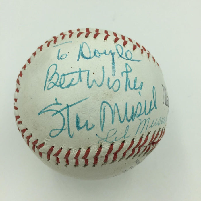 Rare Stan Musial & Wife Lil Musial Signed Major League Baseball With JSA COA
