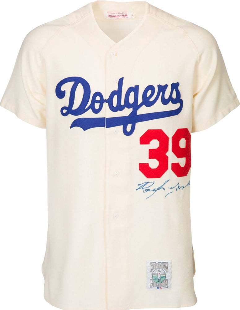 Roy Campanella Signed Authentic Brooklyn Dodgers Mitchell & Ness Jersey PSA DNA