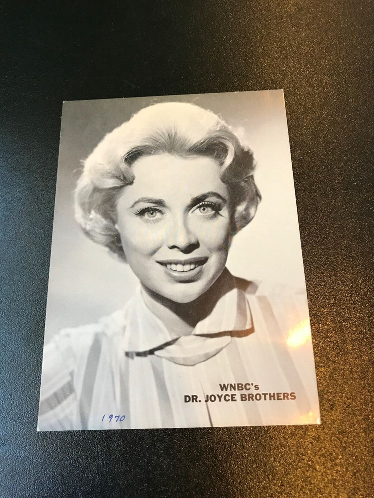 Vintage 1968 Dr Joyce Brothers WNBC Signed Autographed Original Photo