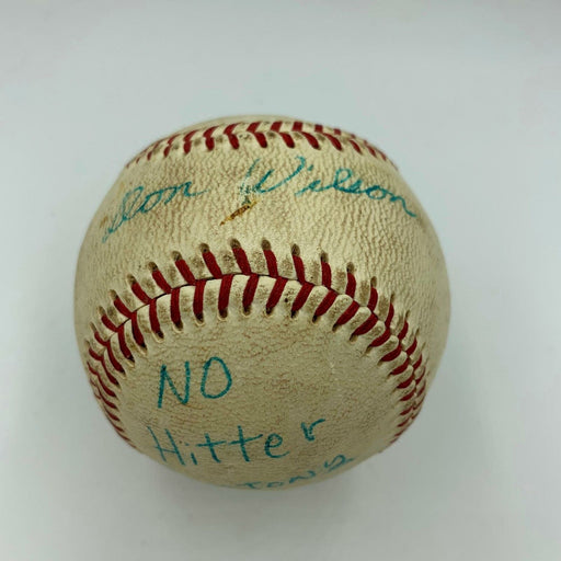 1967 Don Wilson No-Hitter Game Used Single Signed Baseball With JSA COA RARE
